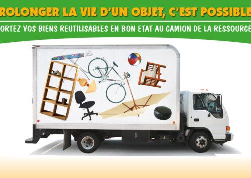 Collecte de biens en bon état devant plusieurs recyparcs en Wallonie picarde