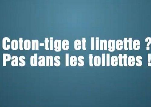 Les WC ne sont pas des poubelles !