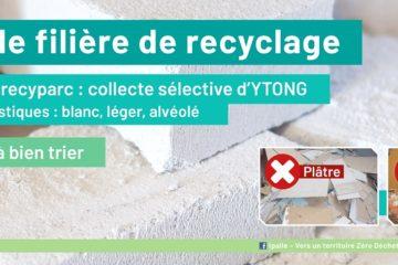 Collecte sélective de béton cellulaire dans six recyparcs de Wallonie picarde