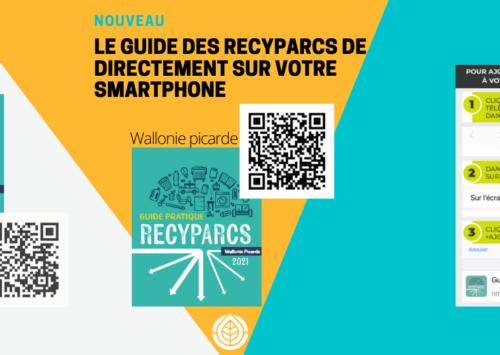 Le guide des recyparcs directement sur votre smartphone